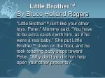 little brother by bruce holland rogers5