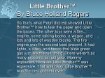little brother by bruce holland rogers6