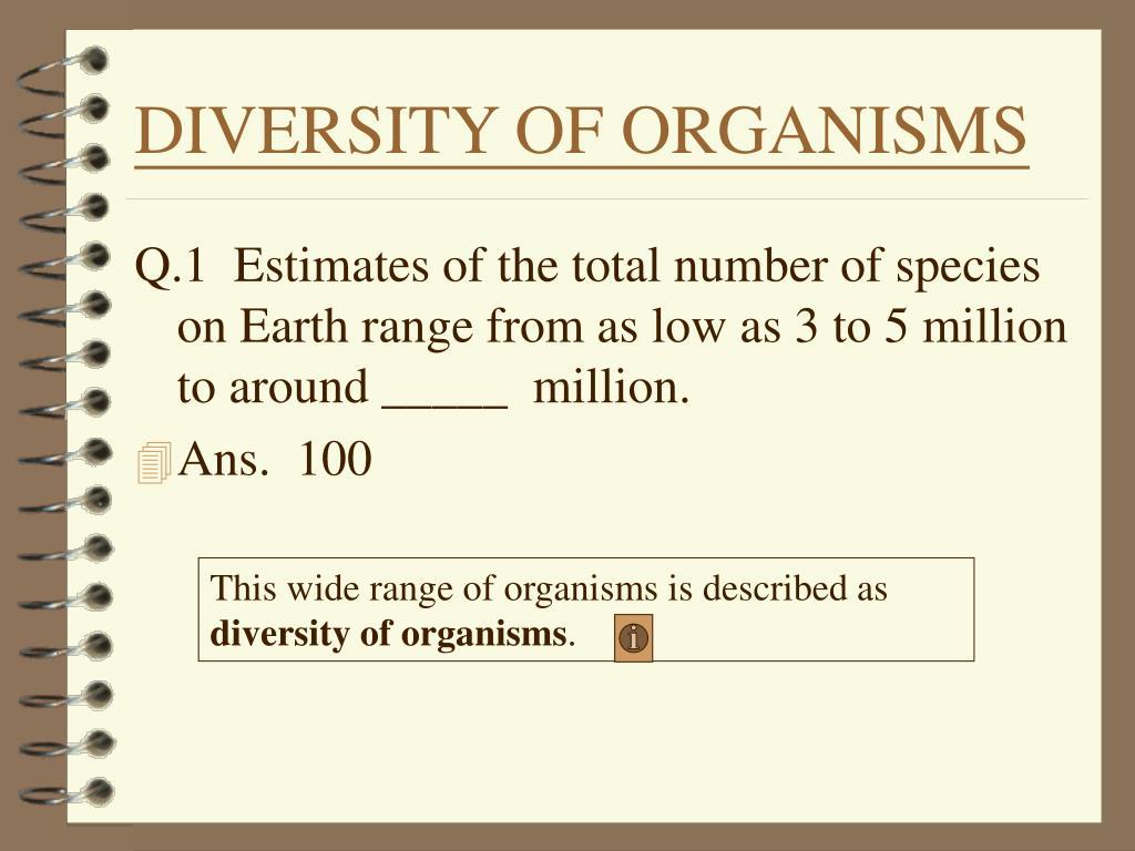DIVERSITY OF ORGANISMS