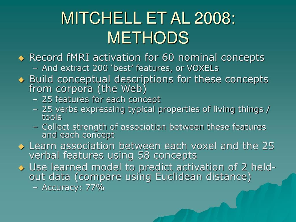 MITCHELL ET AL 2008: METHODS