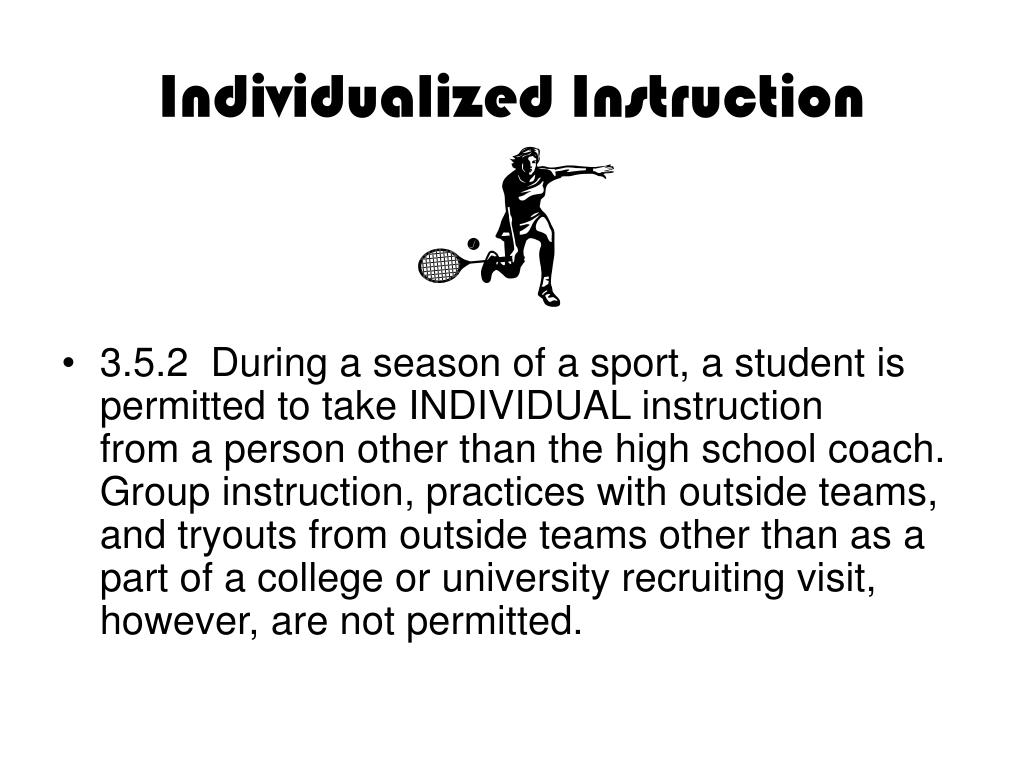 Individualized Instruction