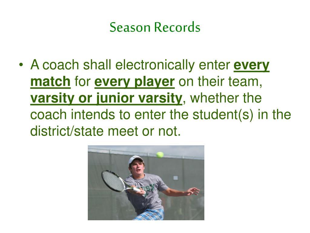 Season Records