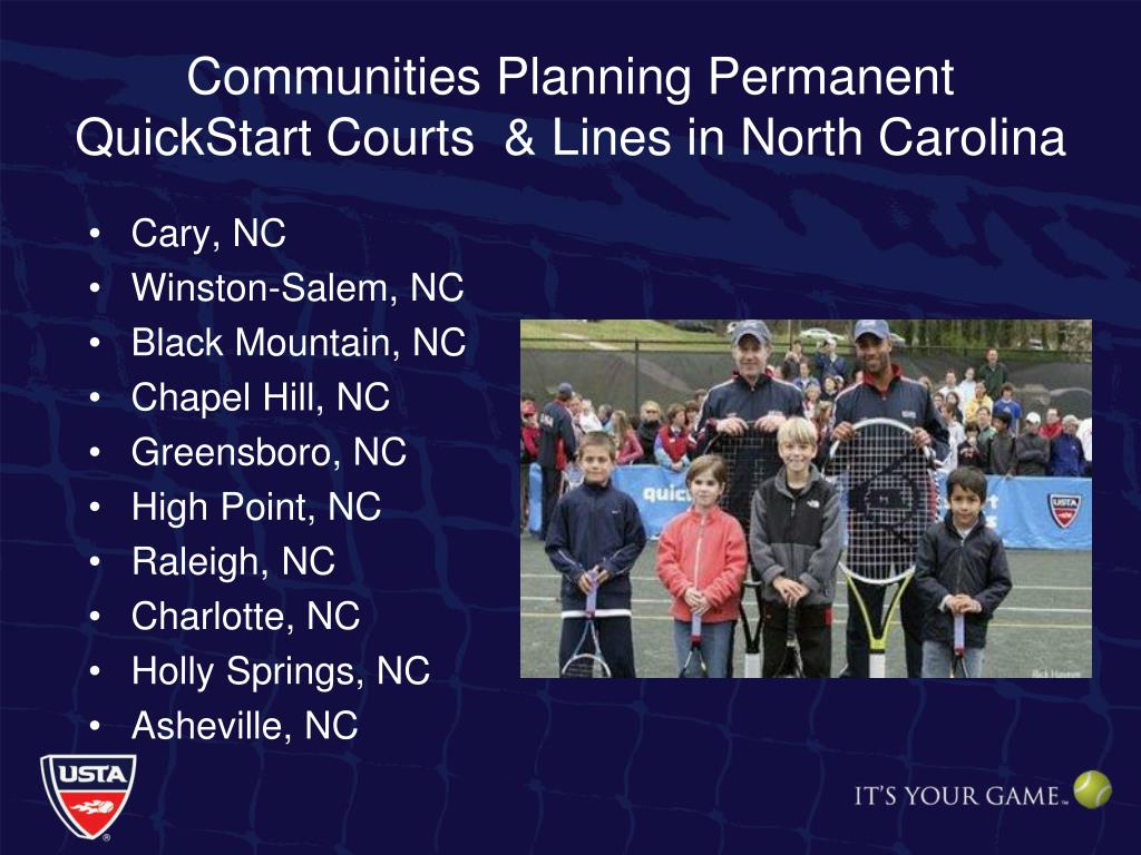 Communities Planning Permanent QuickStart Courts  & Lines in North Carolina