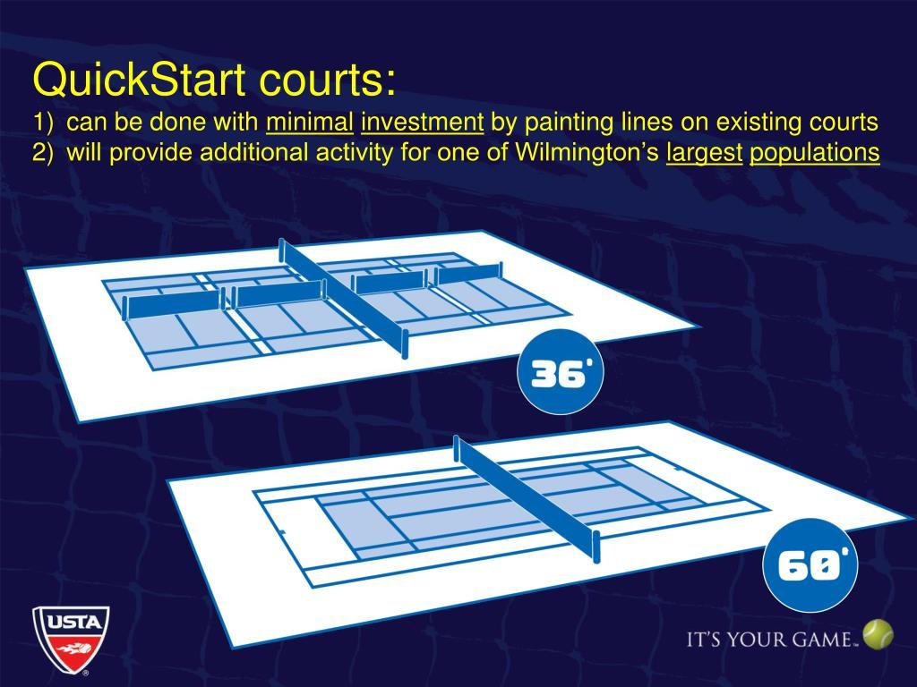 QuickStart courts: