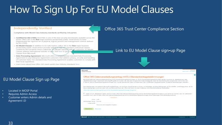 How To Sign Up For EU Model Clauses
