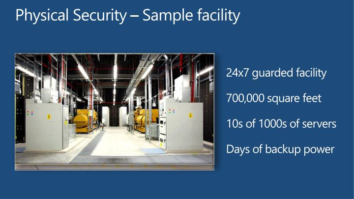 Physical Security – Sample facility