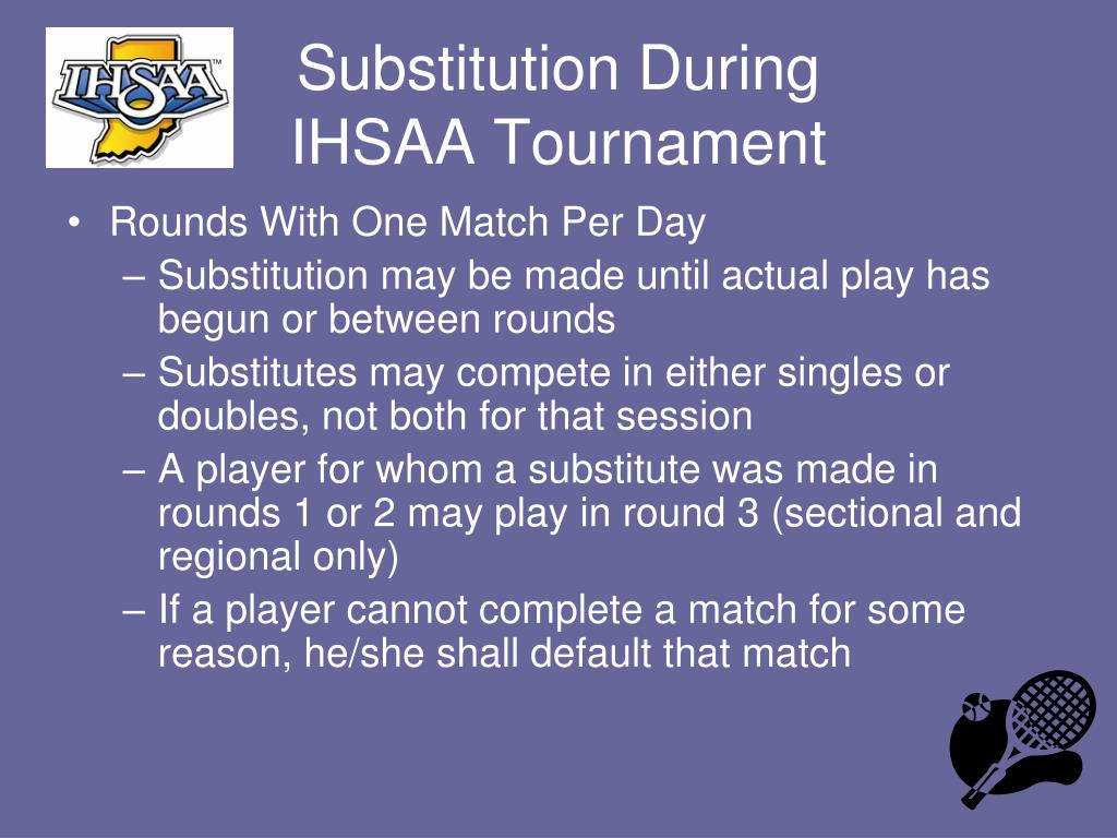 Substitution During