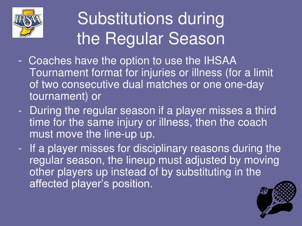 Substitutions during