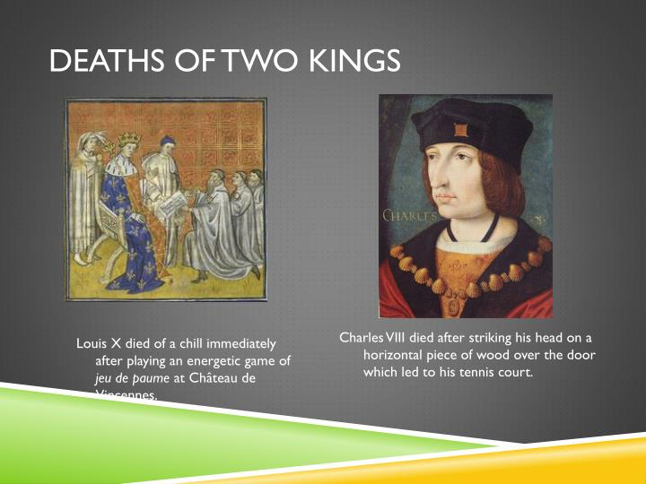 Deaths of two kings
