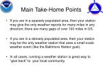 main take home points