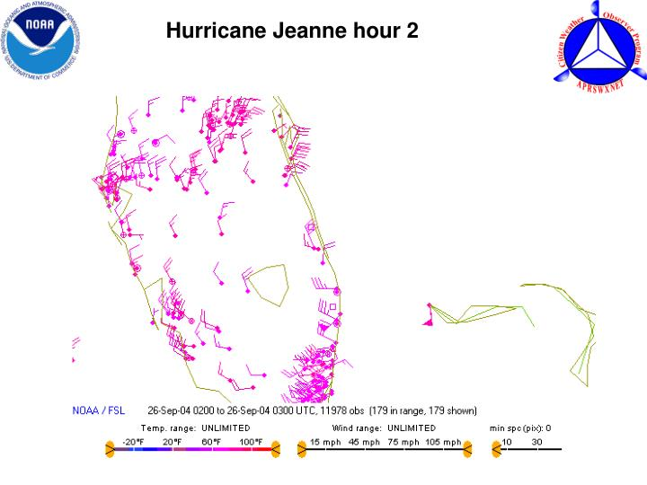 Hurricane Jeanne hour 2