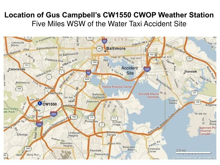 Location of Gus Campbell's CW1550 CWOP Weather Station