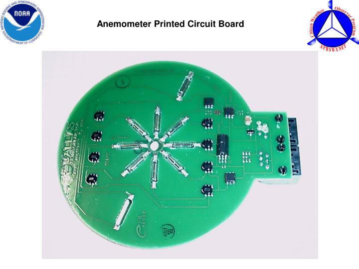 Anemometer Printed Circuit Board