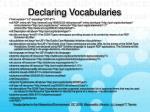 declaring vocabularies25
