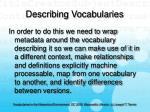 describing vocabularies40
