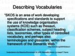 describing vocabularies42