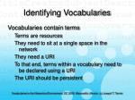 identifying vocabularies20