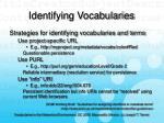 identifying vocabularies21