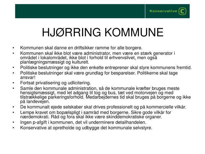 HJØRRING KOMMUNE
