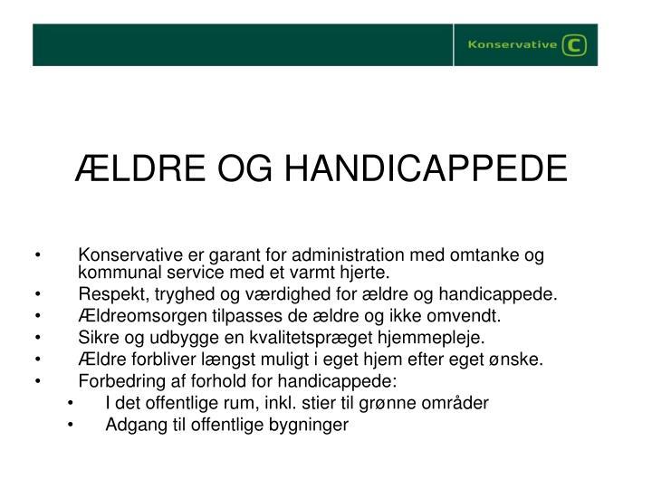 ÆLDRE OG HANDICAPPEDE
