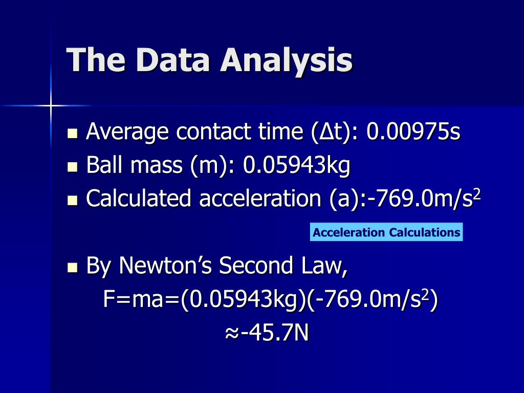 The Data Analysis