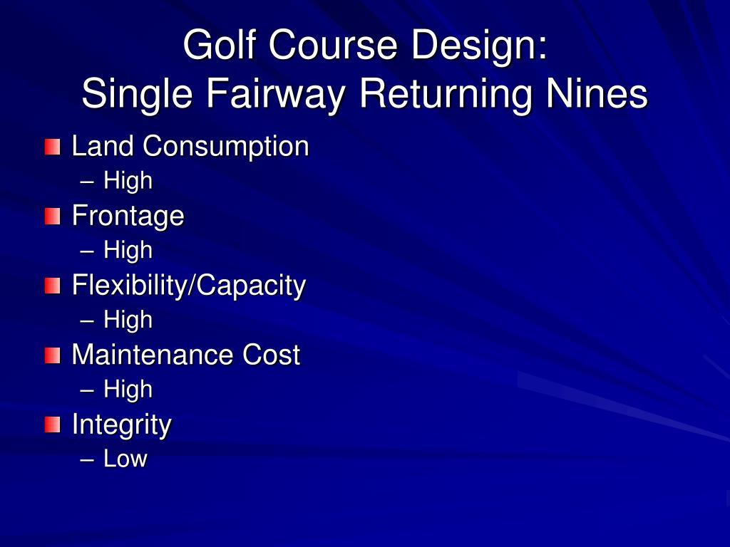 Golf Course Design: