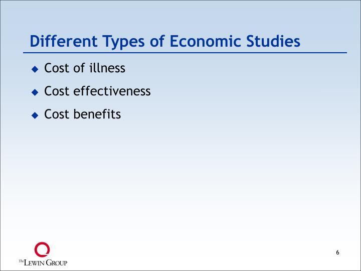 Different Types of Economic Studies
