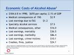 economic costs of alcohol abuse 1
