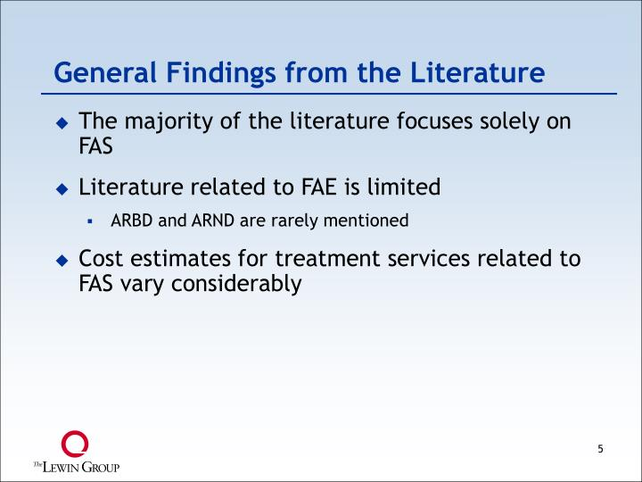 General Findings from the Literature