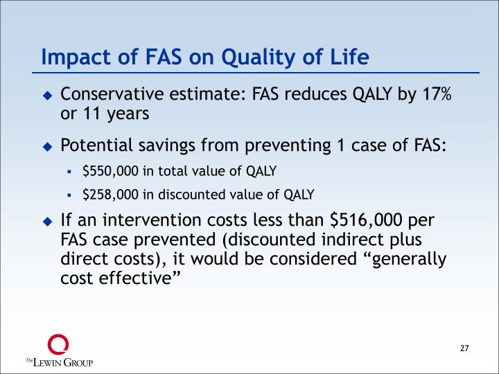 Impact of FAS on Quality of Life