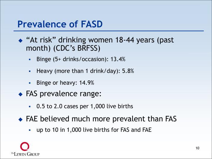 Prevalence of FASD