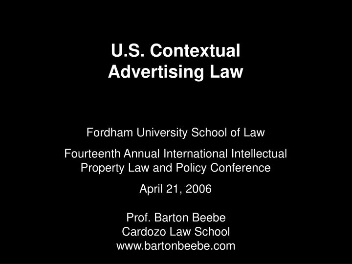 U s contextual advertising law