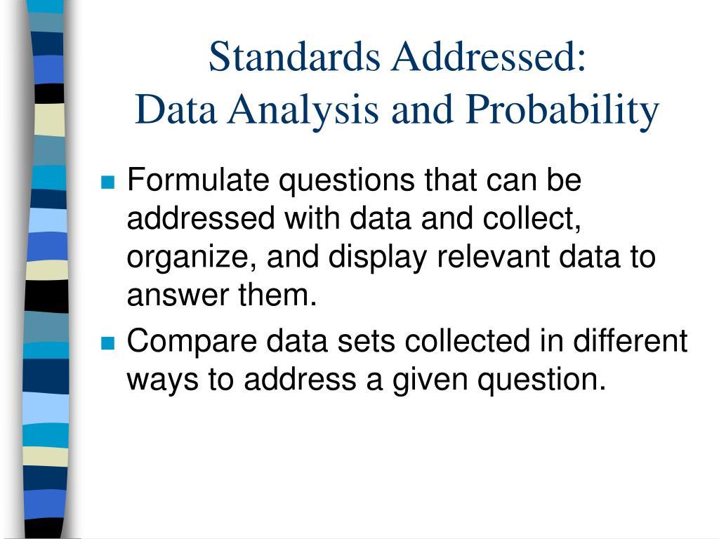 Standards Addressed: