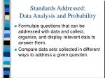 standards addressed data analysis and probability