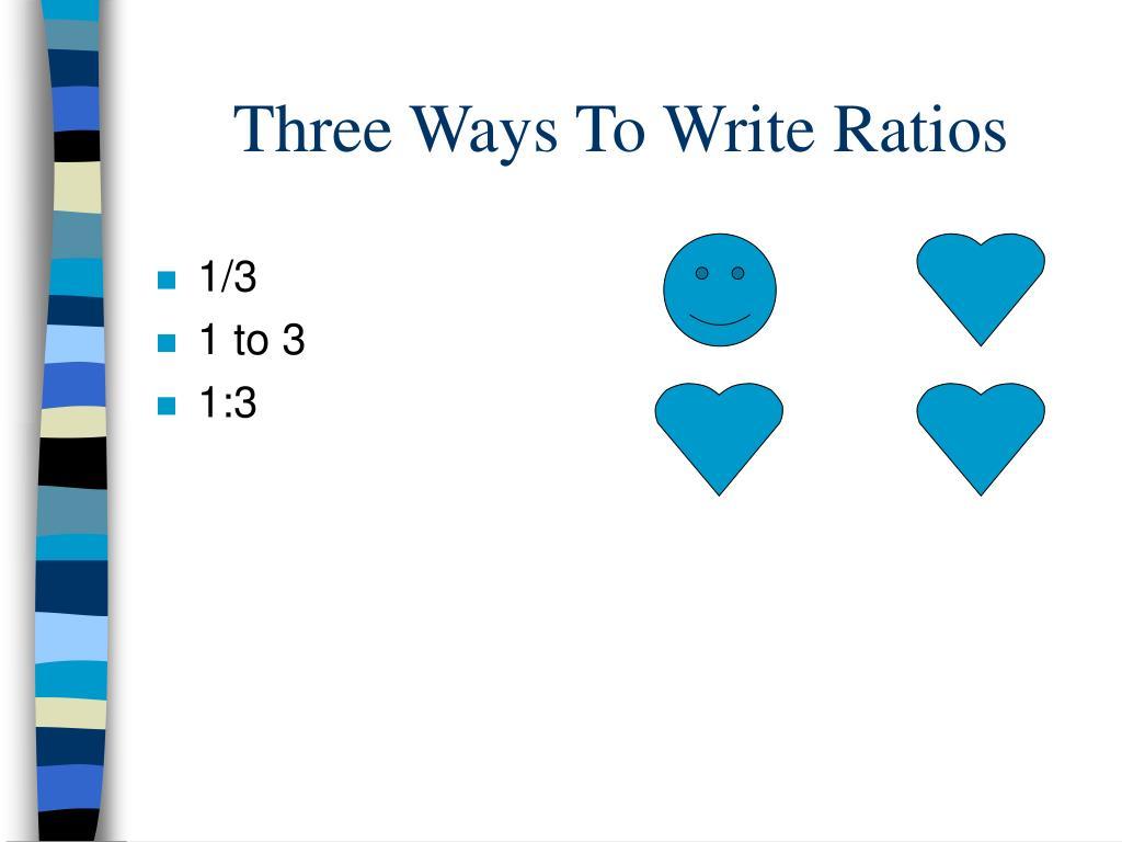 Three Ways To Write Ratios
