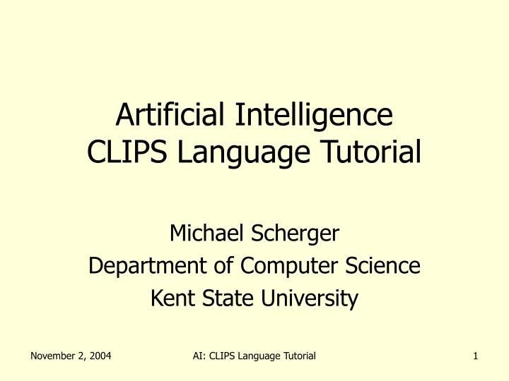 Artificial intelligence clips language tutorial
