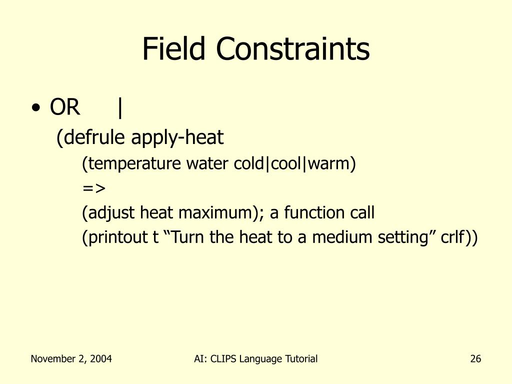 Field Constraints