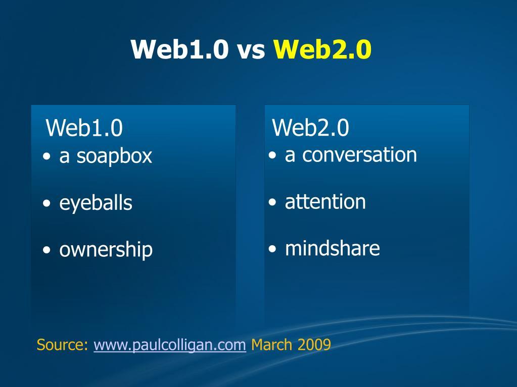 Web1.0 vs