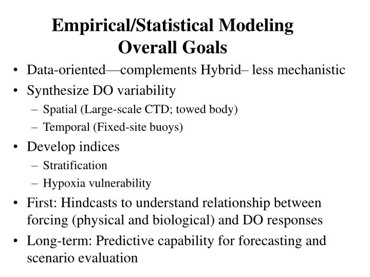 Empirical/Statistical Modeling
