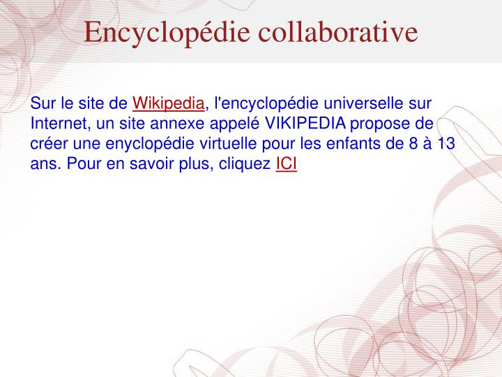 Encyclopédie collaborative