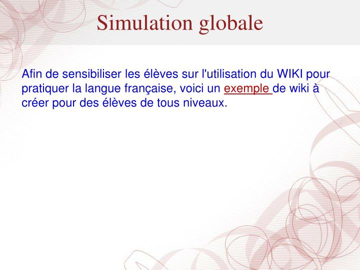 Simulation globale