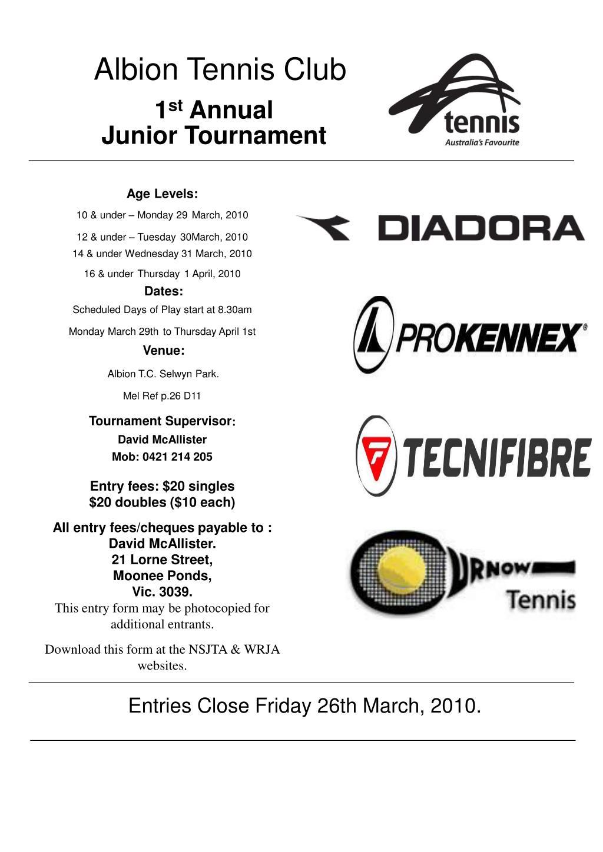 Albion Tennis Club