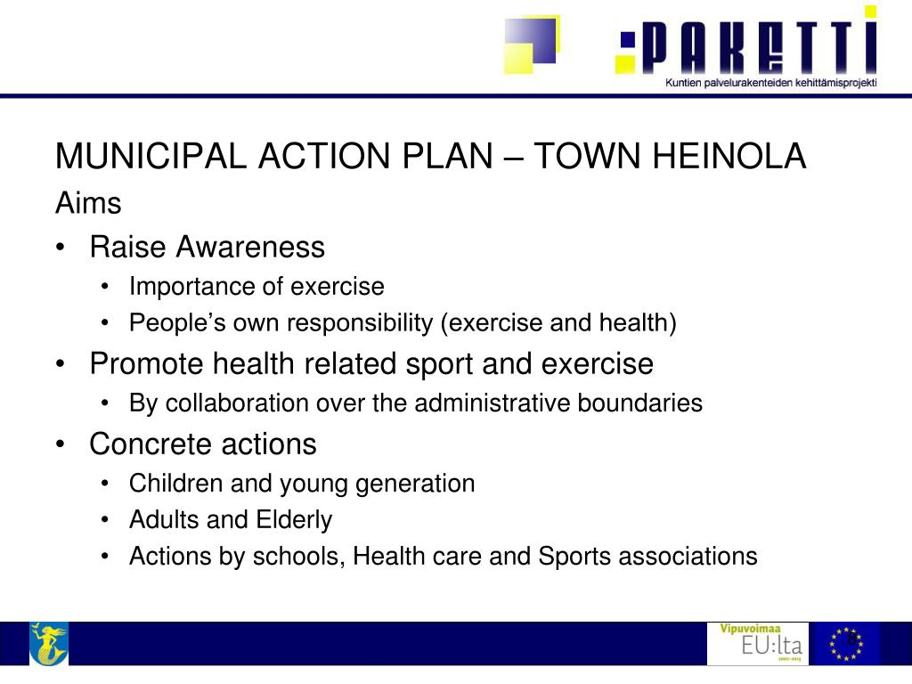 MUNICIPAL ACTION PLAN – TOWN HEINOLA