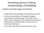 preventing injuries in skiing snowboarding and sledding