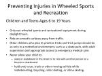 preventing injuries in wheeled sports and recreation14