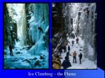 ice climbing the flume