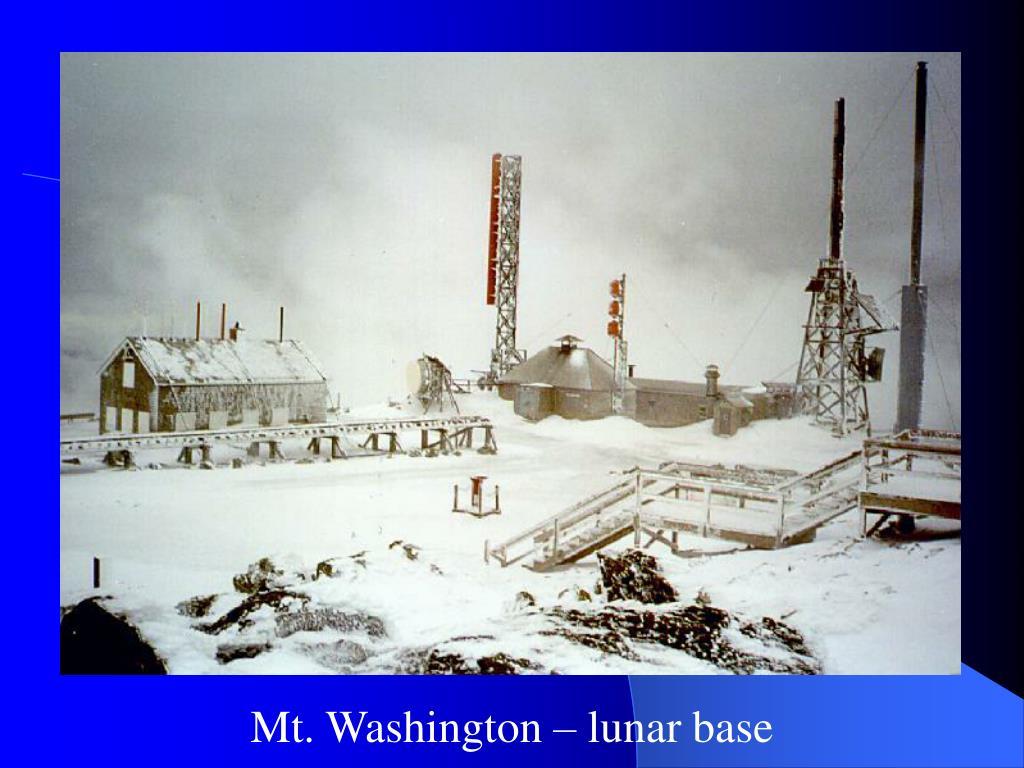 Mt. Washington – lunar base