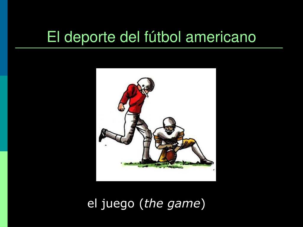El deporte del fútbol americano