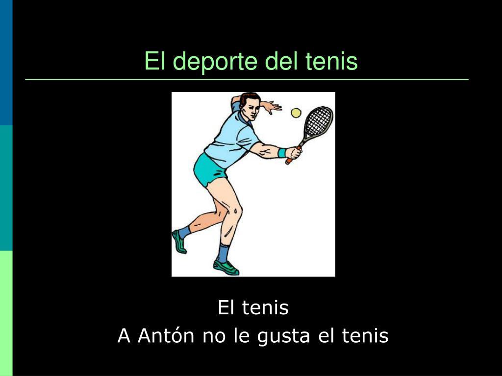 El deporte del tenis