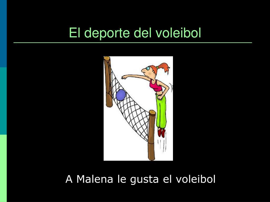 El deporte del voleibol